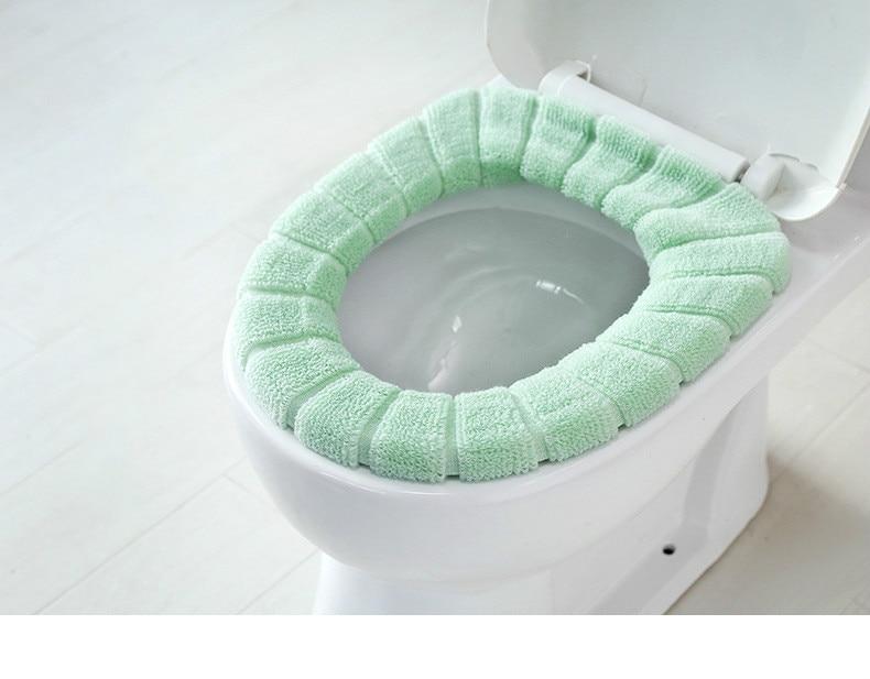 Washable Velvet Toilet Cover 6