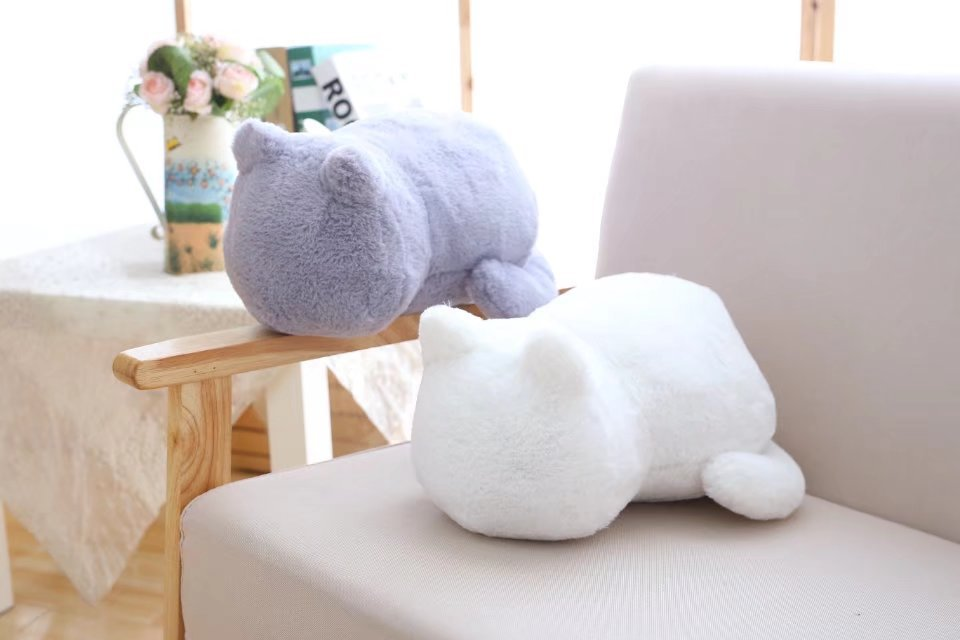 1pcs Cute Soft Cat Stuffed Pillow Lovely Kawaii Animal Plush Shadow Cat Plush Toy For Kids Gift Home Decoration (6)