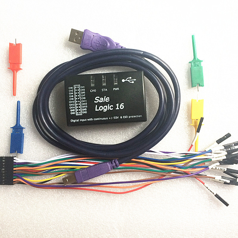 5sets Logic16 logic analyzer 100M Support 1.2.5 version software ARM FPGA decoder tool R&amp;D Tools Oscilloscopes <br>