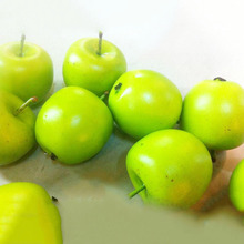 10pcs Home decor 4cm green apple artificial simulation apple fake fruit wedding party house decoration photography props home(China)