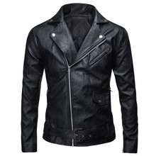 Spring Autumn 2017 New Arrival Leather Jackets Men's jacket Male Outwear Men's Coats PU Jacket De Couro Coat Plus Size M-4XL(China)