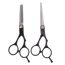 2PCS 6 Inch Hairdressing Scissors Professional Barber Hair Cutting Straight Thinning Scissors Stainless Steel Hairdresser Shears(China)