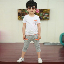 Children Girls Clothes Set Brand Fahion Discount Baby Boy Set Kids T-shirt Top With Pocket+Pants Clothes white green orange 7T