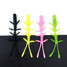 Hot Sale 8pcs/Set Soft Silicone Artificial Soft Bait 8.5cm/2g Fishing Lure soft smell Swim Bait Fishing Worm Lure YE-187