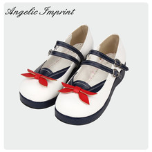 Japanese Sailor Style Sweet Lolita Shoes School Girl Uniform Mary Jane Pumps Shoes(China)