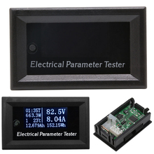 Multifunction Meter OLED 100V 10A Voltage Current Time Temperature Capacity-Y122