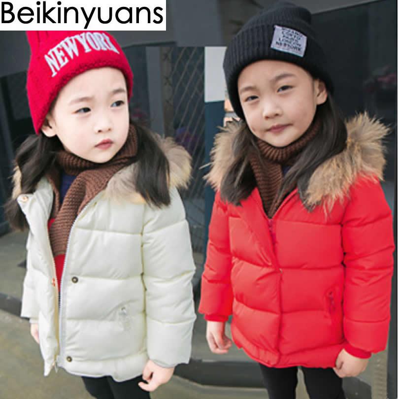 Baby Girls Boys Jackets Thickening Real Collar Autumn Winter Jacket Kids Warm Hooded Children Outerwear Coat Boys Girls ClothesÎäåæäà è àêñåññóàðû<br><br>