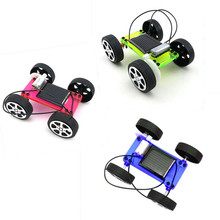 High Quality Set CS3AB Mini Solar Powered Toy DIY Car Kit Children Educational Gadget Hobby Funny(China)