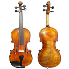 SATIN YELLOW BROWN NICE FLAME MAPLE STRADIVARIUS ADVANCED VIOLIN MODEL HV-07A