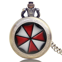 Resident Evil Movie Vintage Drop Shipping Handmade Cabochon  Perfect Gift Idea Pocket Watch DIY Necklaces