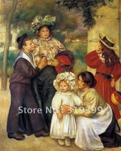 Free DHL Shipping,handmade,Oil Painting Reproduction,the artists family by pierre auguste renoir,on linen canvas,museum quality(China)