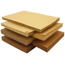 A4 size 21*29.7cm Kraft paper 250gsm card paper, DIY box gift packing 80gsm-500gsm(China)
