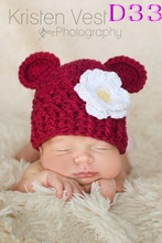 Free shipping Crocheted Baby Hat Animal monkey Hats baby hats