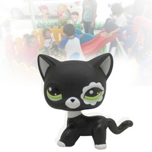 2017 New Pet shop toys rare black little cat blue eyes animal models patrulla canina Action figures kids toys gift
