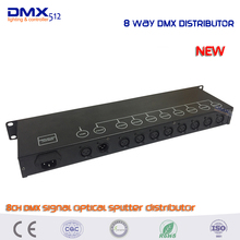 DHL Free shipping HOT sale 8CH DMX Splitter 8-way DMX Distributor 8-way dmx signal splitter factory directly sale