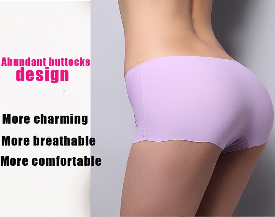 2017 New Arrival Girls Safety Pants Ice Silk Seamless Underpants Women Safety Shorts Plus Size Underwear Panties 11