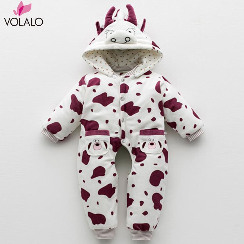 2016 Autumn&amp;Winter Baby Rompers Cows Gray Long Sleeve Baby Boys Girls Jumpsuits Romper Newborn Cartoon Baby Romper<br><br>Aliexpress