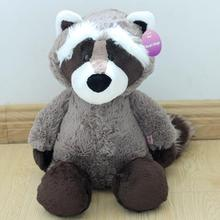 1pcs sitting height 25cm NICI Coon bear plush dolls raccoon plush toy plush bear cute little coon toys girl gift kids toy