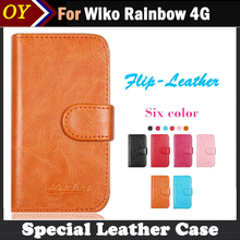 In stock!Wiko Rainbow 4G Case,Dedicated Flip Leather Customize Phone Cover Case For Wiko Rainbow 4G Card Wallet Business Style