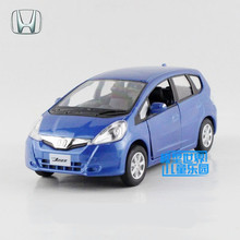 Free Shipping/1:36 Scale/Honda Jazz Car/Education Model/Classical Pull back Diecast Metal toy/For Collection or Gift