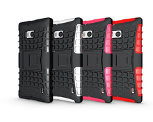 For Microsoft Nokia Lumia 929 930 cases Hard Cover Heavy Duty Armor Hybrid Rugged Rubber Silicone Stand Phone Case (<