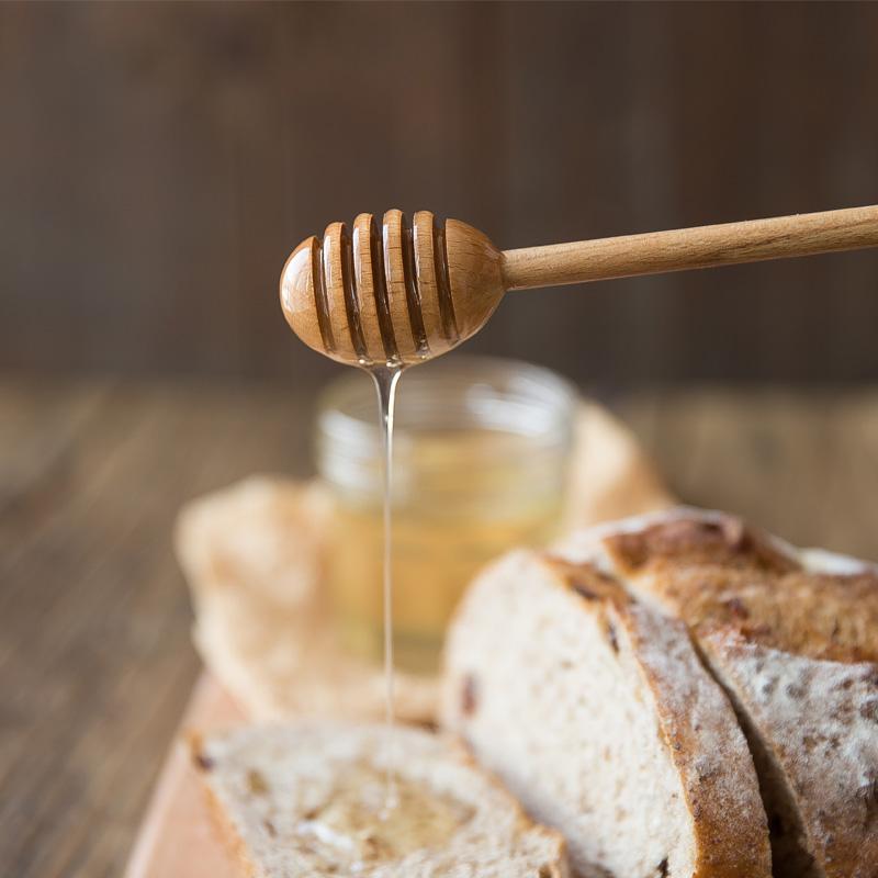Wooden Honey Spoon Long Handle Beech Wood Honey Dipper Stick Wood Honey Coffee Bar Mixing Spoon Kitchen Utensils Tea Accessories (1)