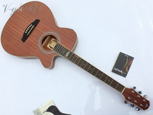 GOOD QUALITY thin body acoustic guitar with pickup(China)