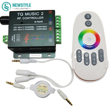 DC12V 24V RGB LED Controller RF Music Audio control 18A 3 Channel TQ Music 2 for SMD 3528 5050 5630 Led Strip Light(China)