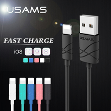 Buy USAMS USB Light Cable iPhone Cable 2A Lighting Charger Cables iPhone x 8 7 6S plus iPad Mobile Phone Cable iOS 11 for $1.97 in AliExpress store