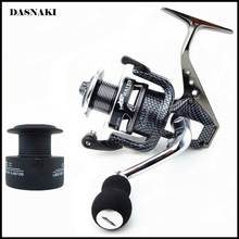 Carbon Fiber Leg & Spool sea fishing reel GSA 1000-7000 10BB+1 Spinning High-grade Practical Fishing Reel with Spare Spool