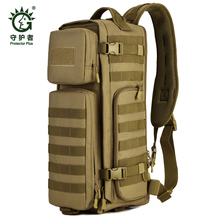 Field Tactical Chest Sling Pack Outdoor Sport One Single Shoulder Man Big Large Ride Travel Backpack Bag Advanced Tactical *