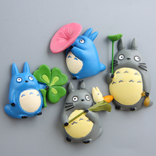 4styles Cartoon Dragon Cat Anime Totoro Resin Fridge Magnetic Sticker Magnet Souvenir Home Decoration Action Figure Toy 178