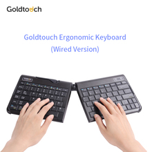 Original Goldtouch ergonomic keyboard height adjustable,Black and white color, Wired ergonomic keyboard for windows and mac(China)