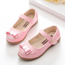 2017 New Girls Princess Shoes Fashion Child Baby Dance Shoes Kids Knot Flat Leisure Shoes Manufacturers Selling Size26-37 49b095