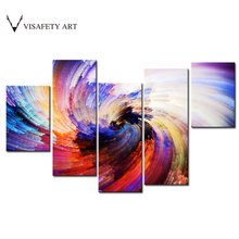 5 Pcs/Set Abstract Canvas Painting Modern Colorful Fireworks Combined Canvas Wall Art Picture Home Decor(China)