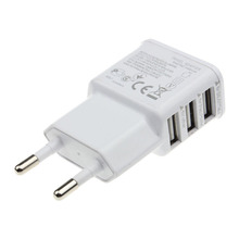 Luxury 5V2A EU 3Ports Charger Compatible for Microsoft Zune, cell phone, PDA, digital camera / camcorder and more