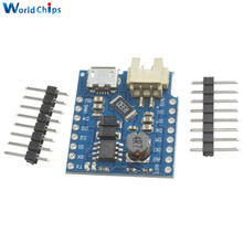 Wemos D1 Mini Battery Shield USB Single Lithium Battery Charging Boost Module With Pins LED Indicator 5V DC Free Shipping(China)