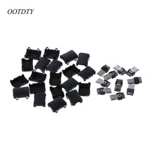 OOTDTY 10 pcs Micro USB T Male Port Male 5 Pin Plug Socket Connector Plastic Covers For DIY