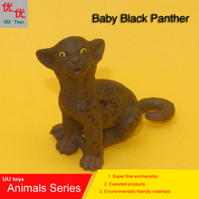 Hot toys: Baby Black Panther Simulation model Animals kids toys children educational props(China)