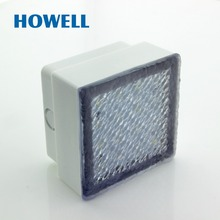 E01401 Howell IP67 Water Proof PC Square 10x10 Car step LED Crystal Brick Lighting Clearly Garden Walkway Under In Ground Lights(China)