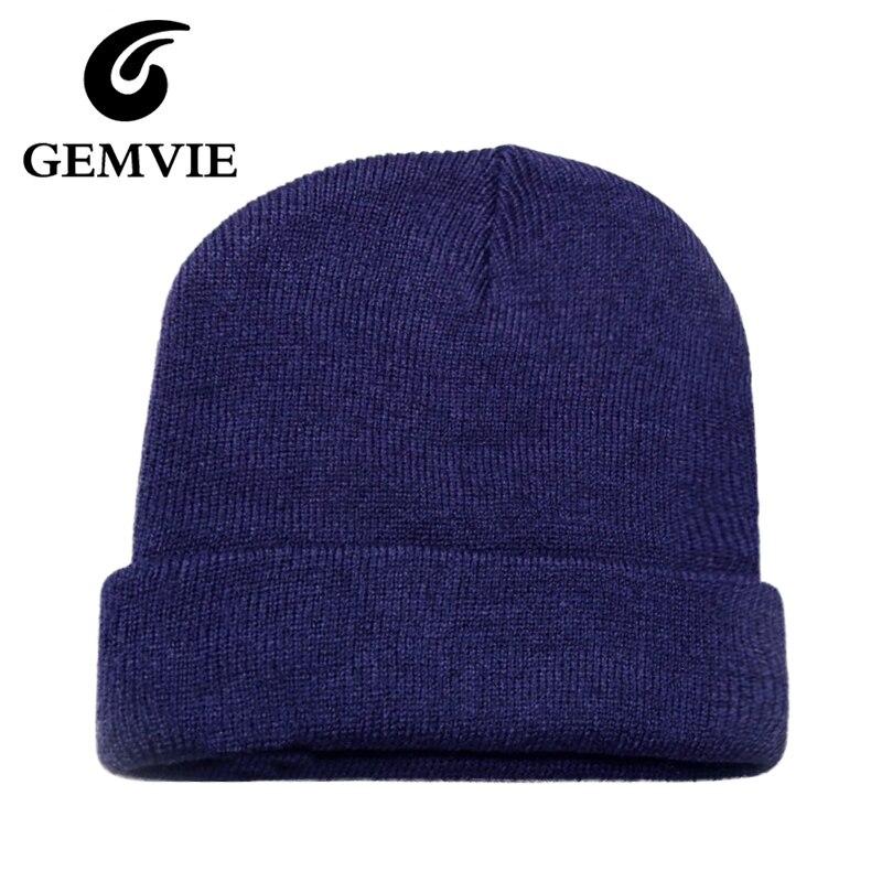 New Year Gifts Casual Solid Hemming Acrylic Knitted Hats Women/Men 2016 Winter Hats Skullies Beanies CapsÎäåæäà è àêñåññóàðû<br><br><br>Aliexpress