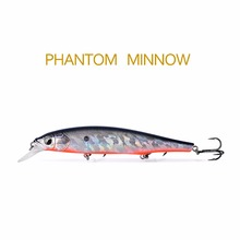 1 pcs THETIME BRAND TH110 Floating Phantom Mninow Lures 110mm/18g Artificial Baits For River Fishing wobblers Fishing Lure(China)
