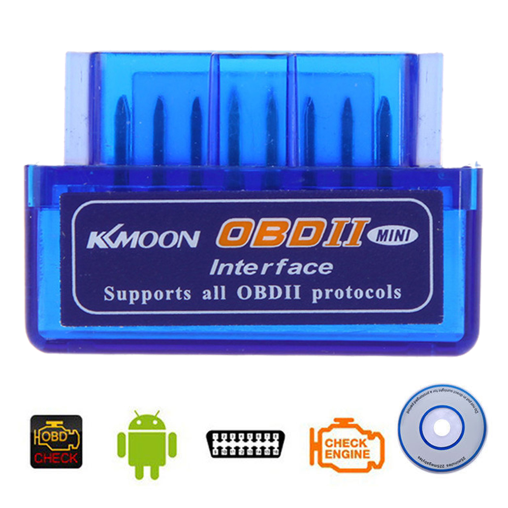 Kkmoon Mini V2.1 ELM327 OBD2 Bluetooth Interface Auto Car Scanner Diagnostic Tool for Android(China)