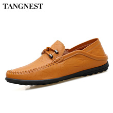 Tangnest 봄 Summer Men Casual Shoes 숨 정품 로퍼 편안한 츠 게으른 Man Driving Shoes 모카신 XMR2814(China)
