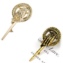 Game of thrones Brooch Hot Selling Song of Ice Hand Of The King Pin Brooch Small Brooch Pin Gold and Antique Bronze Brooch