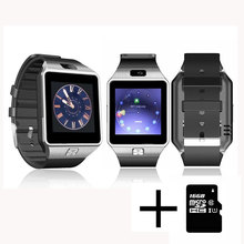 Wearable Devices DZ09 Smart Watch Support SIM TF Card Electronics Wrist Watch Connect Android Smartphone +16GB memory card(China)