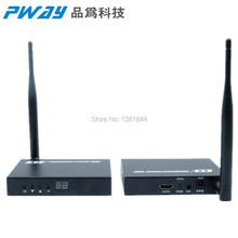 PWAY PW-DT211W transmission Wireless HDMI Extender 100M/ 330ft Support Ultra HD 1080P IR HDMI transmitter with Looping output(China)