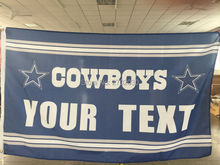 Your Text Flag Dallas Cowboys Custom Football World Series Flag 3ft X 5ft Premium Team Helmet Banner Your Text Flag(China)