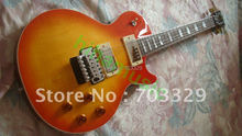 Free shipping new cs honey cherry sunburst LP standard flamed top guitar floyd rose tremolo one piece neck Mahogany Custom Shop