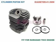 Cylinder Piston kit for KAWASAKI TH43 Brush Cutter.Grass Trimmer.Lawn Mower.Tiller.Gasoline Engine Garden Tools Spare Parts